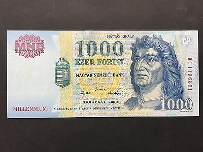 Hungary 1000 Forint P185 Commemorative Millennium Note Budapest Dated 2000 UNC