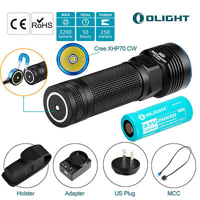 Olight R50 PRO Seeker Rechargeable Flashlight 3200 LM Cree LED + 4500mAh Battery