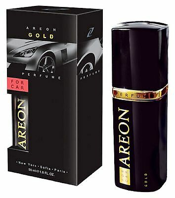 Areon Quality Car Van Perfume Luxury Fragrance GOLD 50ML Long Lasting Freshener