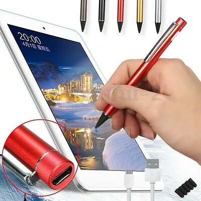 New Active Touch Screen Stylus Drawing Pen 2.3mm + 4x Pen Tip For Tablet iPad UK
