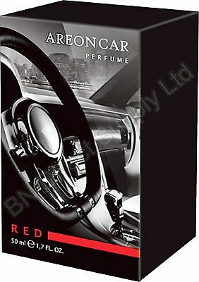 Areon Quality Car Perfume Luxury Fragrance RED 50ML Long Lasting Freshener NEW