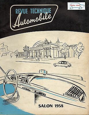 Revue Technique Automobile - Salon 1958 - N° 150 - Ed Octobre 1958 - 146 pages