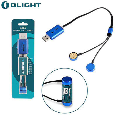 Olight UC Universal Battery Charger USB Magnetic Adapter Lithium NiMH Batteries