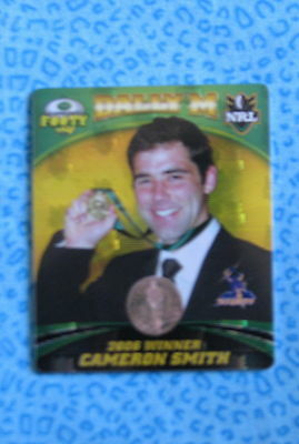 Cameron Smith 2007 Nrl Tazo Dally M Winner Melbourne Storm Queensland Footy New