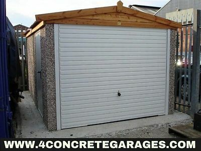 Apex Concrete Garage 8ft6in x 20ft3in installed *conditions apply £2,150