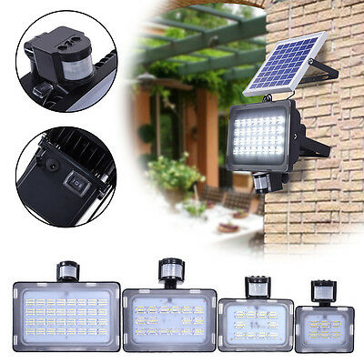10W 20W 30W 50W Solar Sensor Flood Light Motion Detection Security Garden Lamp