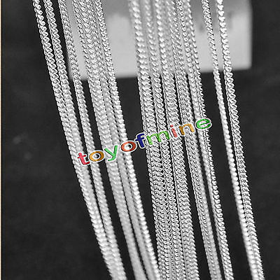 Charming 1/5PCS 925 Sterling Silver 2.0mm Rolo Curb Chain Necklace 16-30 inch