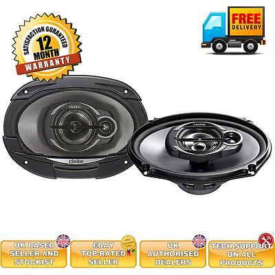 "Clarion 6x9"" 6x9 3-way coaxial speaker system 400 watts SRE6932R rear speakers"