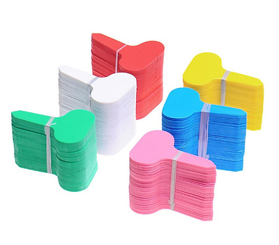100pcs Durable Plastic Plant T-type Markers Nursery Garden Stake Labels Tags New