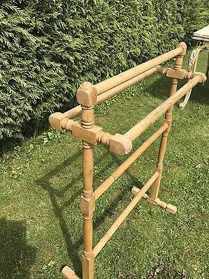 Antique Waxed Pine Late Victorian / Edwardian Towel Rail