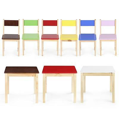 Solid Color Wood Kid Square Table Toddler Children Play Activity non-toxic S6P6