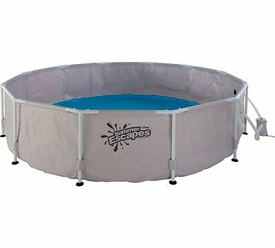 NEW 12 Foot Summer Escapes Frame Pool & Filter Pump & Cover  *12 Ft *Swimming