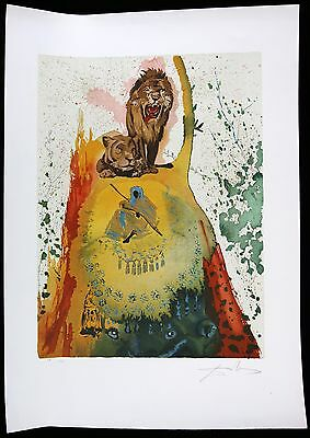SALVADOR DALI lithograph ST JEROME AND THE LION HAND SIGNED
