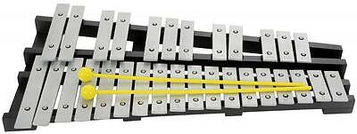 Chord 173.816 Chromatic 30 Note Metal Key 2 1/2 Octave Wooden Frame Glockenspiel
