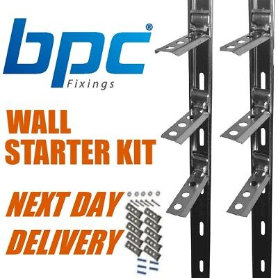 Wall Starter Kits 2.4m - Stainless Steel - NEXT DAY DELIVERY
