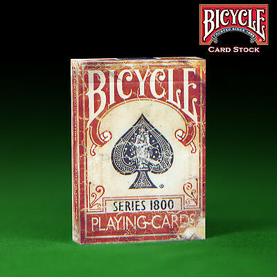 Red Bicycle Series 1800 Playing Cards - Genuine Bicycle Weathered - MARKED DECK