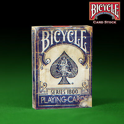 Blue Bicycle Series 1800 Playing Cards - Genuine Bicycle Weathered - MARKED DECK