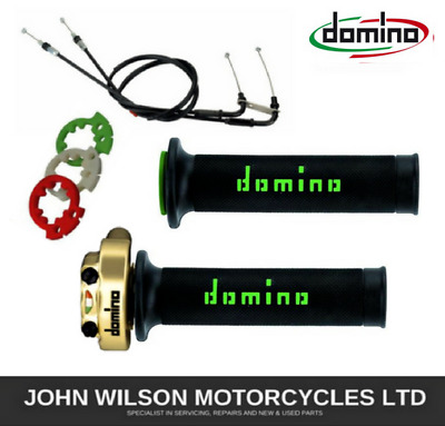 Kawasaki Z750 Z800 Z1000 Domino XM2 Gold Green Quick Action Throttle & Cables