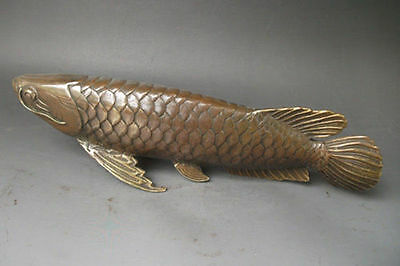 Chinese Bronze Carved statue ' Fish every year ' .