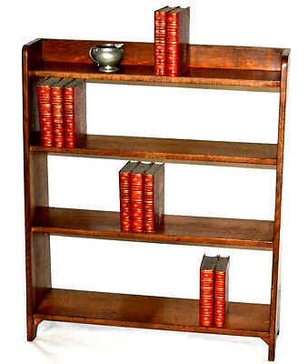 Vintage English Oak 4 tier small Bookshelves Display unit - FREE Shipping [3432]