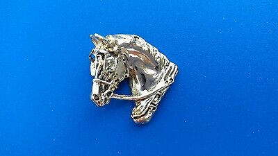 DRIVING HORSE IN HARNESS JEWELRY bronze pendant Zimmer