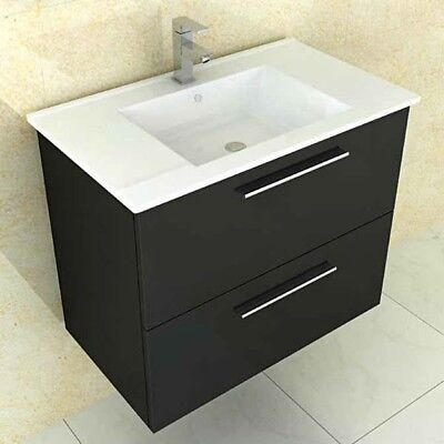 800mm wall hung high black gloss finish bathroom cabinet for Bathroom cabinets 800mm high