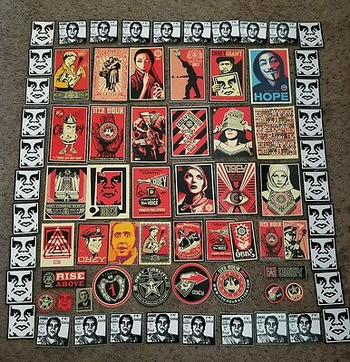 38 Obey Giant Sticker collection by Shepard Fairey