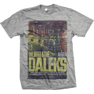 DOCTOR WHO T SHIRT Dr Who & The Daleks MEN'S LARGE
