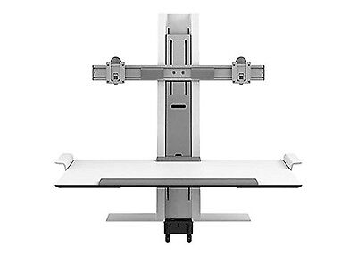 NEW Humanscale Quickstand QSWC30 Dual Monitor Sit Standing WorkStation Platform