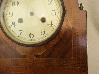 Vintage Inlaid Mahogany Clock Case, Dial, And Bezel