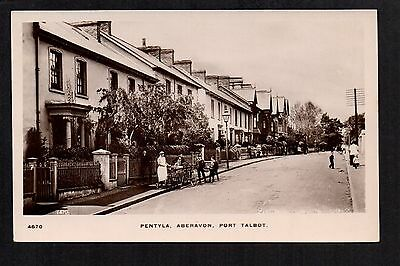 Aberavon, Port Talbot - Pentyla - real photographic postcard