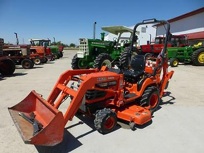 Kubota Bx22 Mfwd Compact Tractor Loader Backhoe For Sale With Mower Deck 667 Hrs