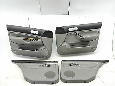 Mk4 Vw Jetta Gray Leather Door Panel Cards Front Rear Set Trim Factory Oem -617