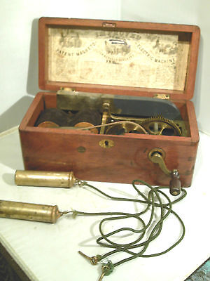 Rare Antique Magneto Electric Shock Machine For Nervous Diseases