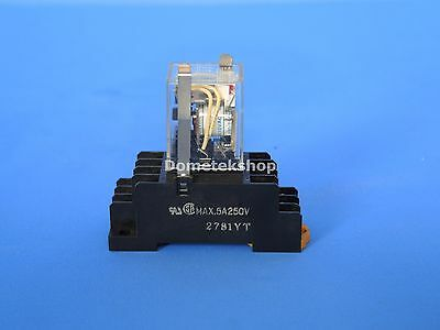 Omron Relay MY4N with base PYF14A 100-110 V coil