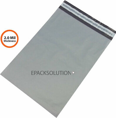 1000 GRAY THIN POLY MAILERS 9x12 SELF SEALING SHIPPING ENVELOPES BAGS EPS 2 MIL
