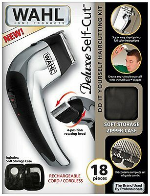 Wahl Deluxe Self Cut Do It Yourself Haircut Kit Hair Clipper, 18 Pieces
