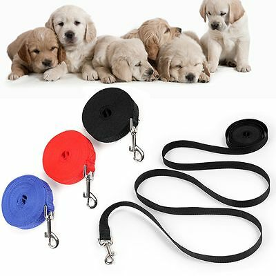 1.8m 4.5m 6m 10m Nylon Rope Walking Harness Dog Cat Lead Wire Pet Leash