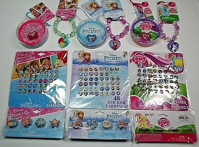 Disney Princess/Frozen/My Little Pony Girls Licensed Jewelry Lots- 4 Units each