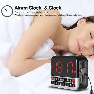 Mini LCD Digital FM AM Radio USB Micro SD TF Card Speaker Alarm Clock MP3 Player