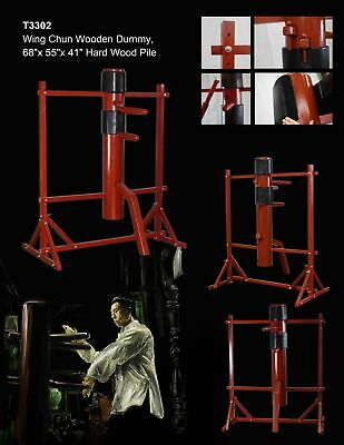 New Traditional WING CHUN Solid Wood Dummy Free Stand Frame IP MAN Martial Art