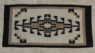 Navajo Antique Handwoven Wool  Rug Carpet  62 inches X 29 inches