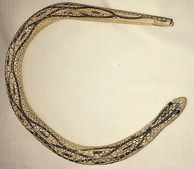 *Vintage Toy Wooden Articulated Snake - Retro Fun Reptile that Moves