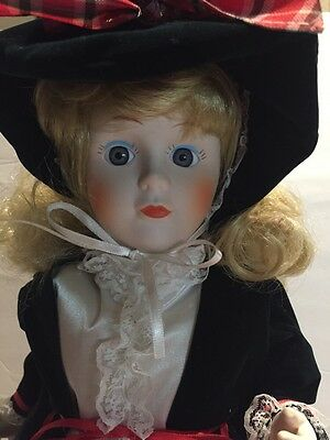 "Christmas Victorian Telco motion-ette Electric 18"" Caroler Lady Red Dress Vinta"