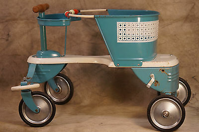 1950's Genuine Taylor Tots Baby Stroller Walker, Teal Color, Cute