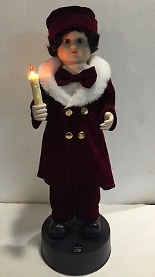 "Christmas Victorian Motion-ette 18"" Caroler Telco Electric Motionette Candle"