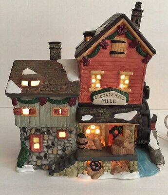 Ludgate Hill Mill Santa's Workbench Towne Series Christmas Village Light Up