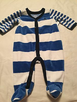 Baby Gap Boys One Piece Outfit Size 0-3 Months Fleece Footed
