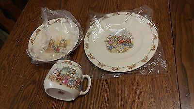 Royal Doulton Bunnykins Nursery Children's China Dining Set 3 Pieces -Never Used