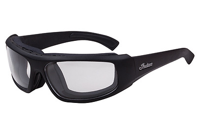 Indian Motorcycle Mens Sunglasses Performance Black Clear Gray Lens Atf Uva Uvb